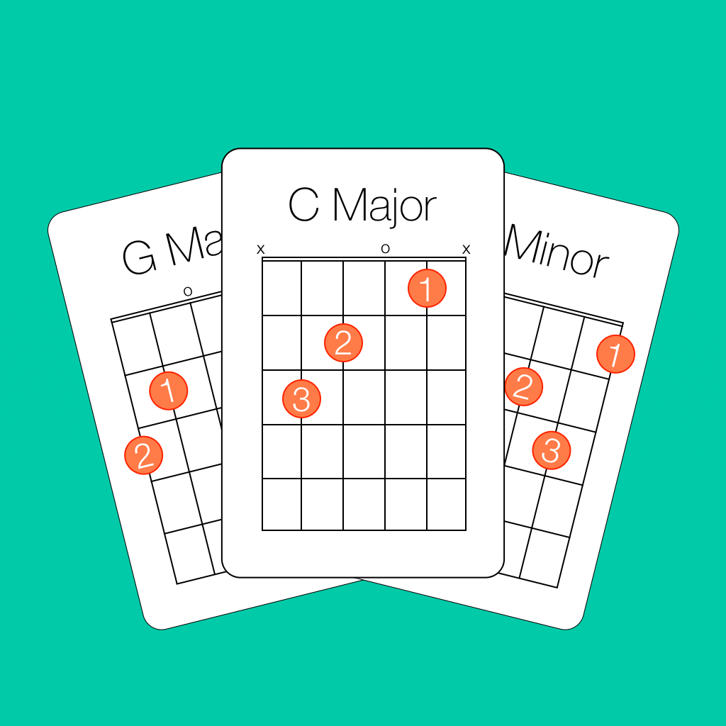 Poker guitar chords